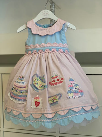 Blue and pink Tea Party Dress