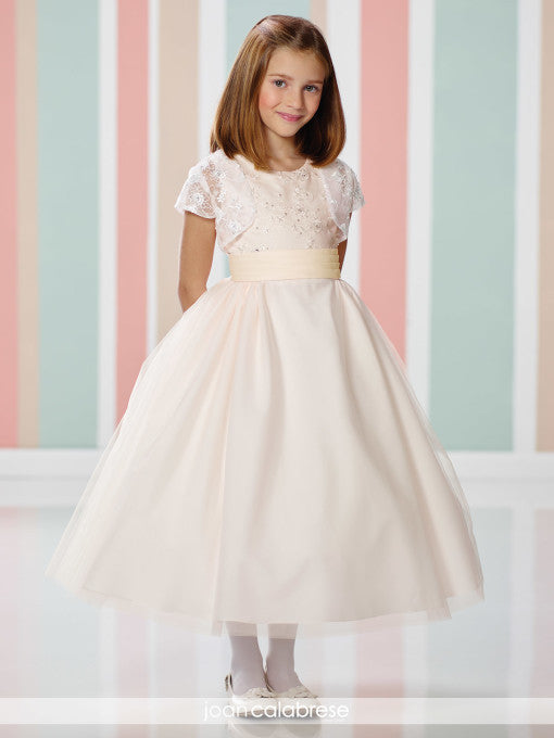 Special Occasion Ivory/Light Pink Dress 216312