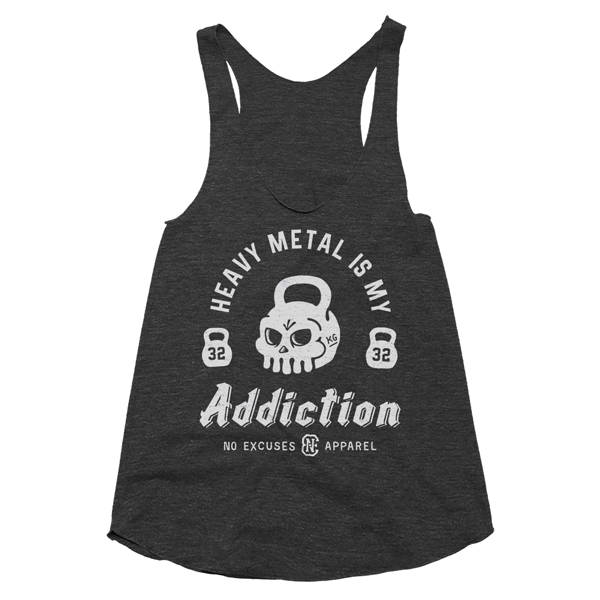 Metal Workout Tank Women Black