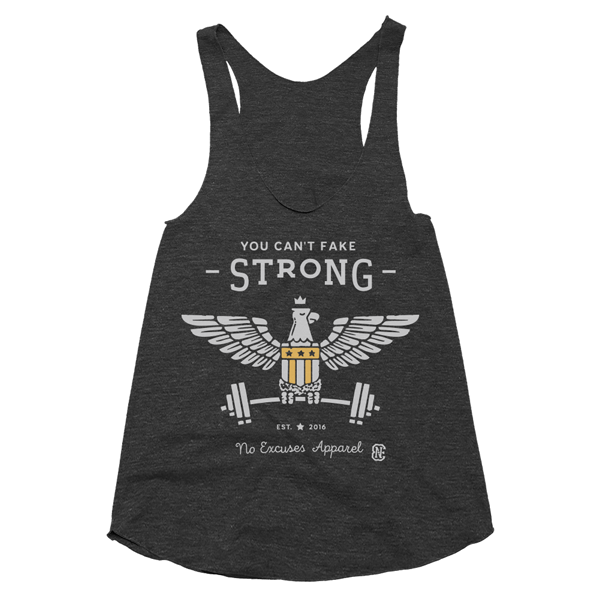 Strong Workout Tank Women Black
