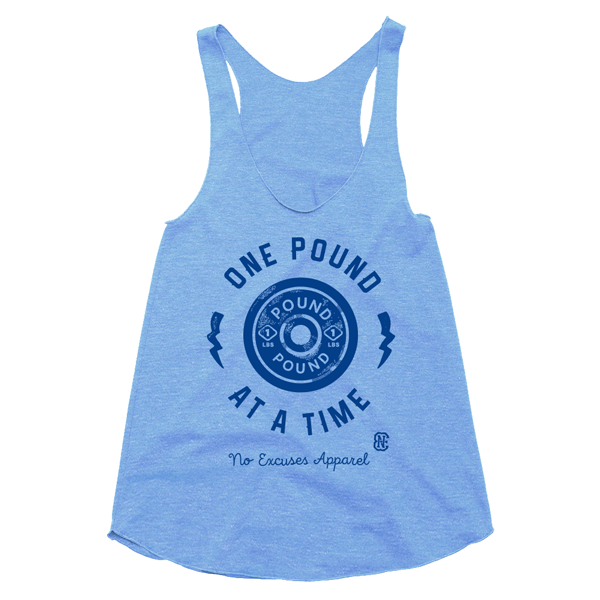 One Pound Workout Tank Women Blue