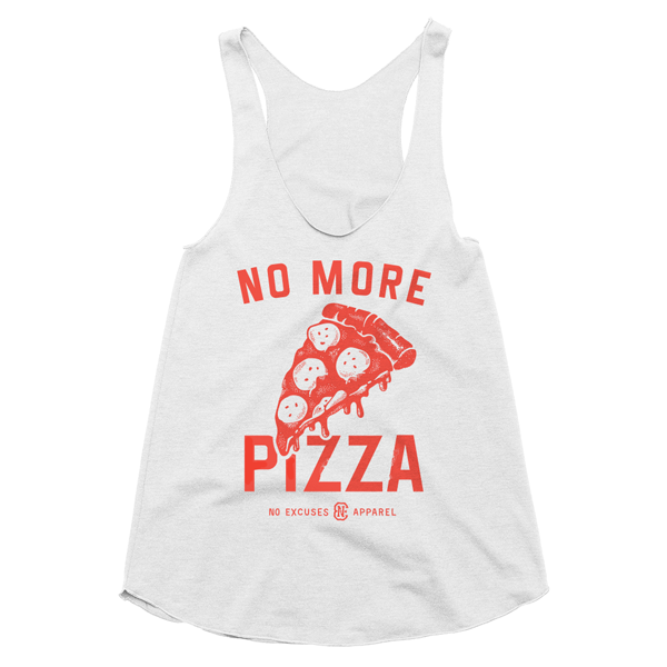 Pizza Workout Tank Women Oatmeal