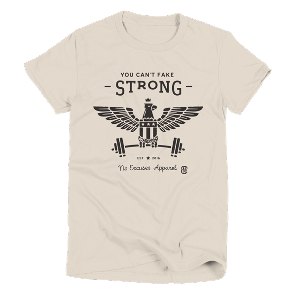 Strong Workout T-Shirt Women Creme