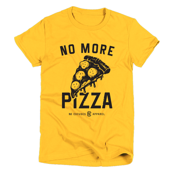 Pizza Workout T-Shirt Women Yellow