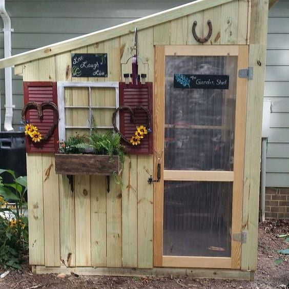 Pimp Your Garden Shed 10 Cool Ways - Cate\'s Garden