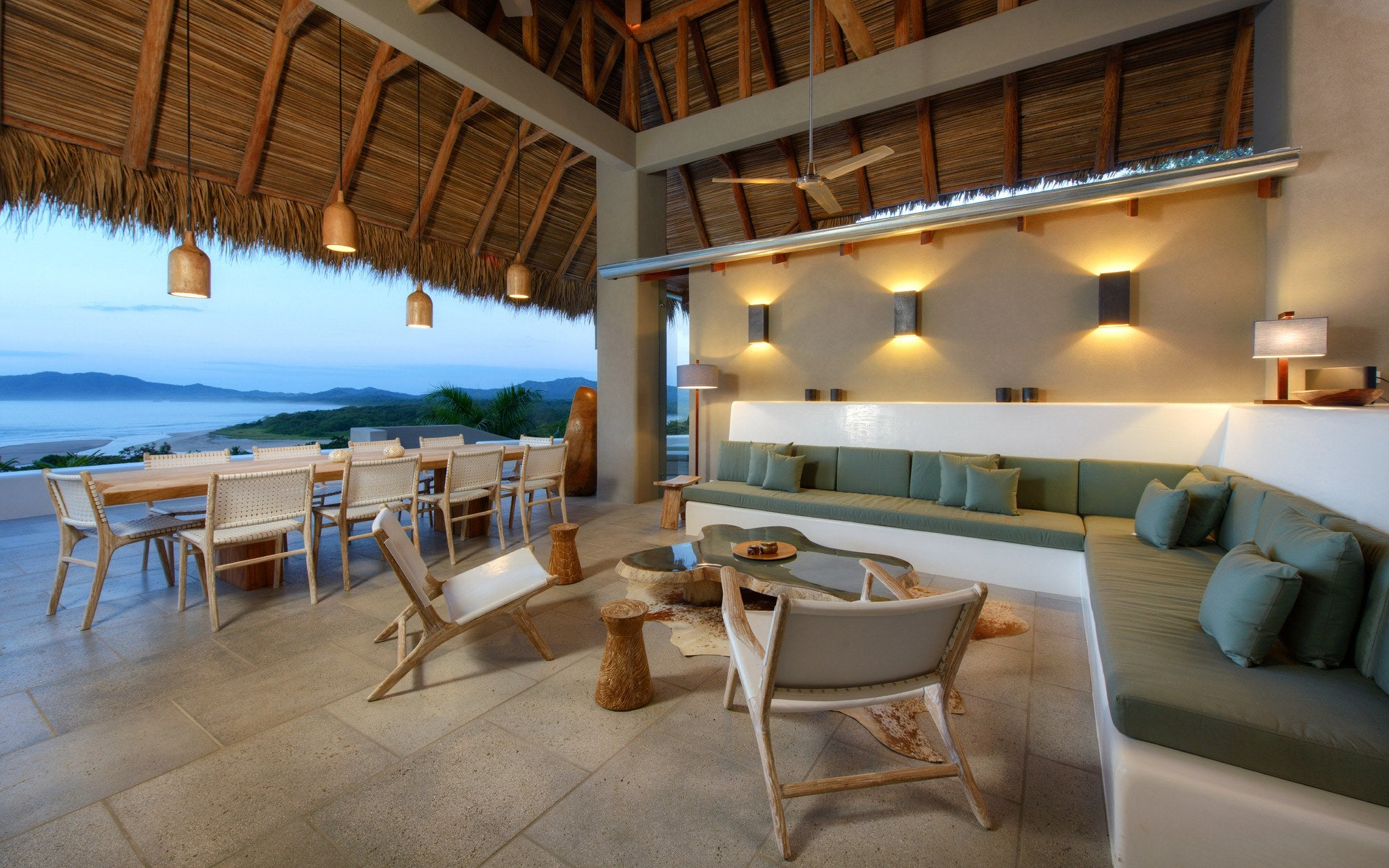 Living & Dining Area - SUNSET HOUSE Tamarindo, Guanacaste, Costa Rica