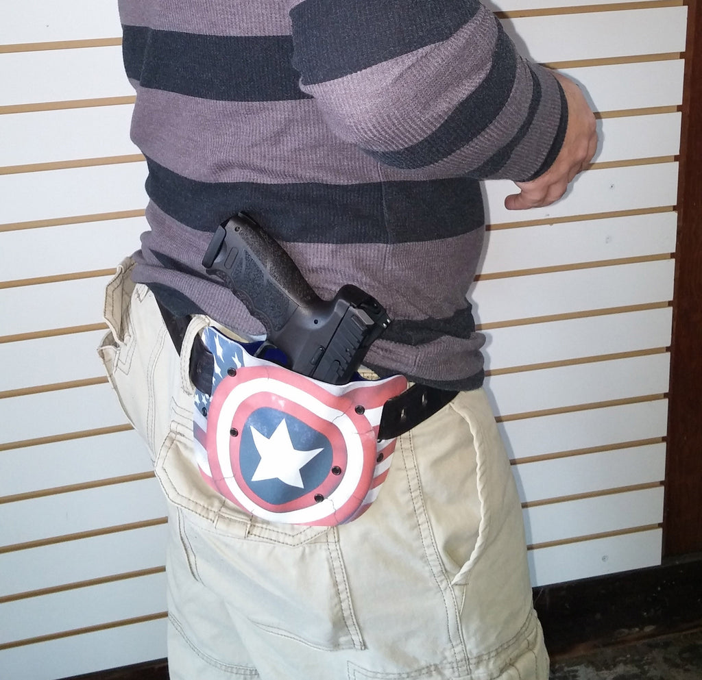 Heckler & Koch VP40 in a very patriotic custom holster