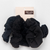 Assorted Textured Scrunchies - Black
