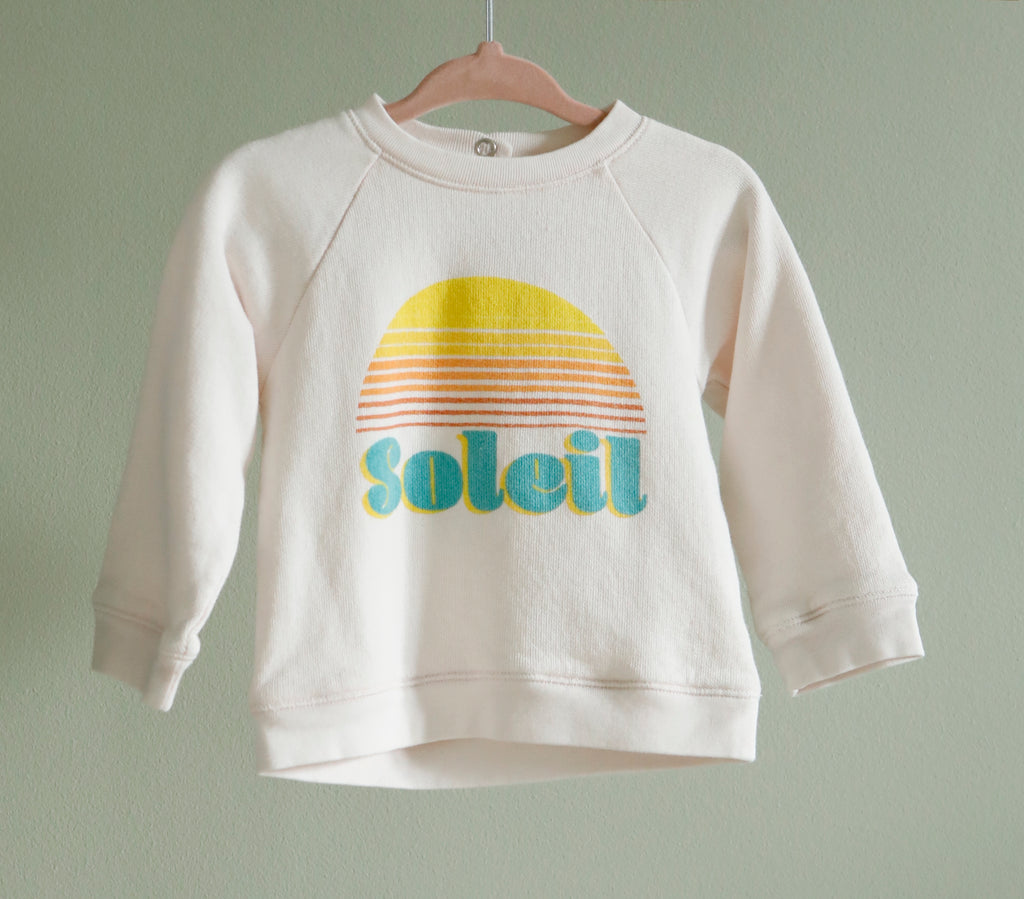 "Sweat Shirt ""Soleil"" ron ron x David Lucas Enfant Rose"