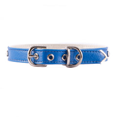 Blue One Row Jeweled Collar