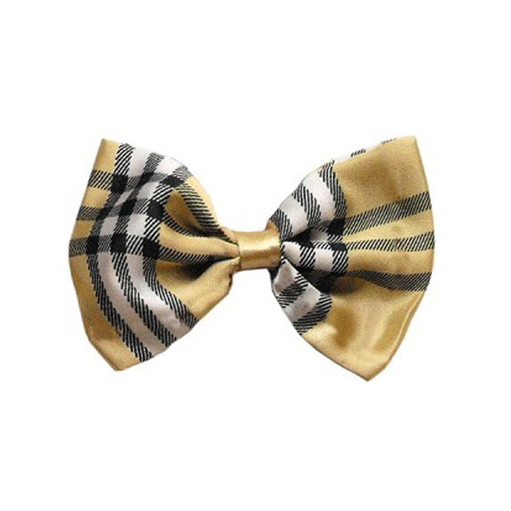 plaid cream bow tie dog accessories dog accessory designer dog accessories dog boutique fashion
