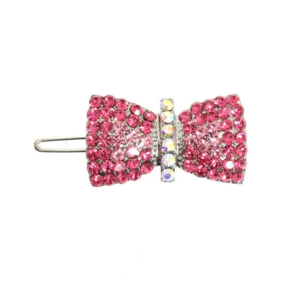 ribbon bow swarovski hair clip dog barrette dog accessories dog accessory designer dog accessories dog boutique fashion