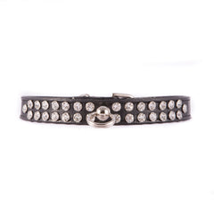Black Two Row Jeweled Collar