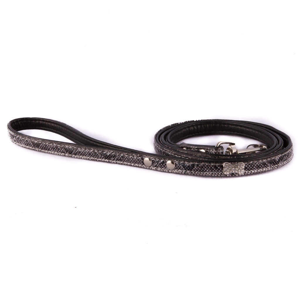 Snake Skin Leash - Black