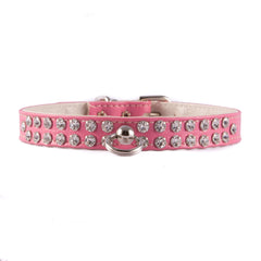 Pink Two Row Jeweled Collar