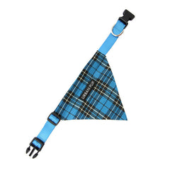 blue tartan bandana dog accessories dog accessory designer dog accessories dog boutique fashion