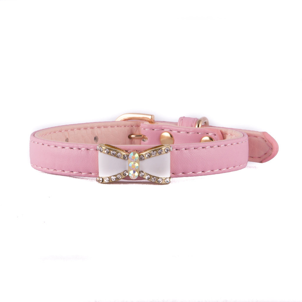Pink Bow Collar
