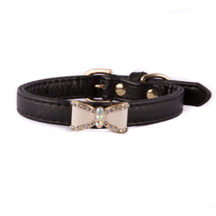 Black Bow Dog Collar
