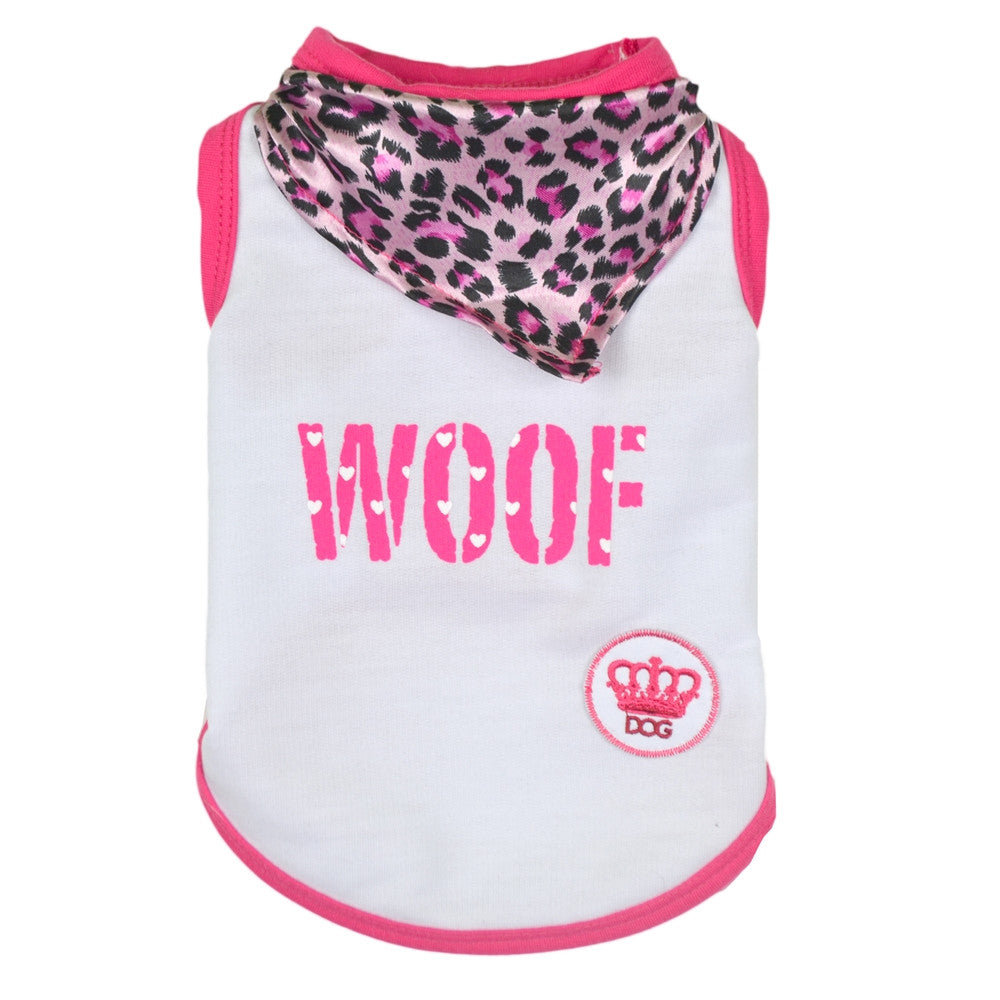 woof tank dog top dog tee dog shirt designer dog clothes