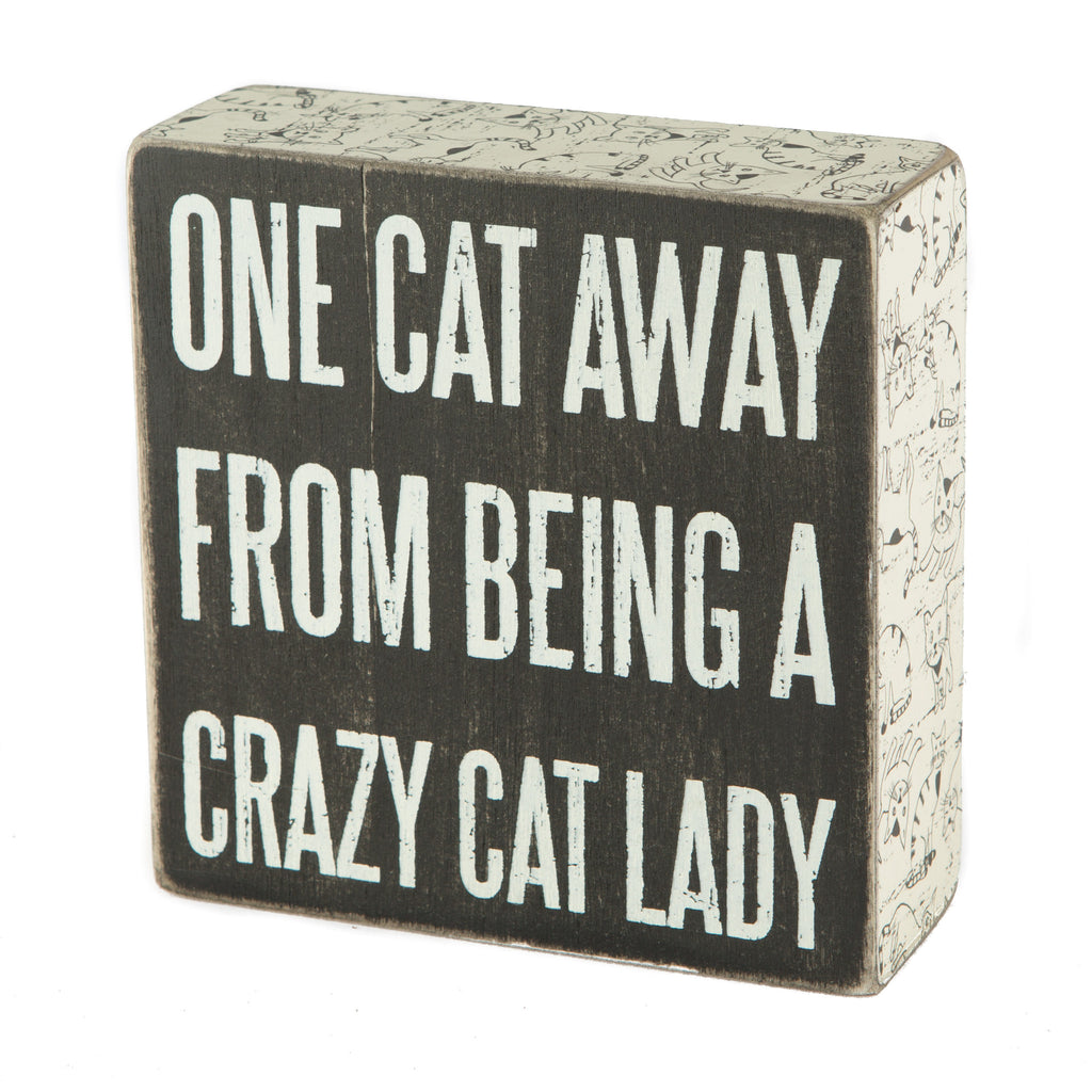 Cat Lady Decorative Sign
