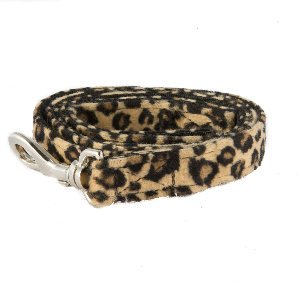 Leopard Print Fabric Dog Leash