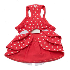 Pink Polka Dot Bow Tie Dress