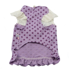 Purple Lace Polka Dot Dress