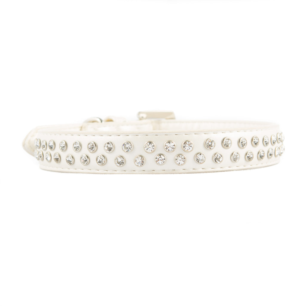 VP Pets Diamond Choker Collar- Double Diamond Row