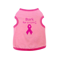bark for a cure dog top dog tee dog shirt designer dog clothes