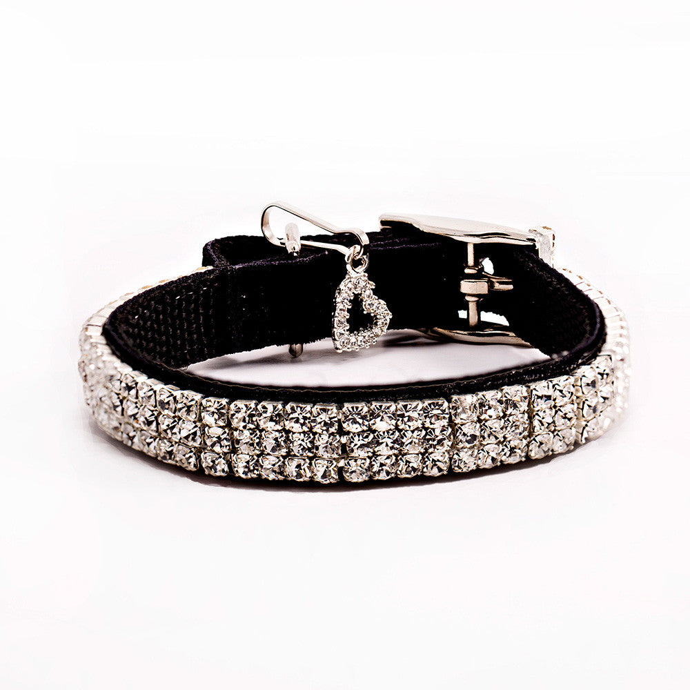 velvet black swarovski collar dog collar fancy dog collar dog shirt collar designer dog collar boutique dog collar