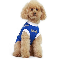 Blue Suspenders Dog Top