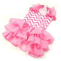 Chevron Dog Dress