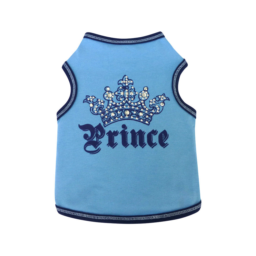 Prince dog top dog tee dog shirt designer clothes
