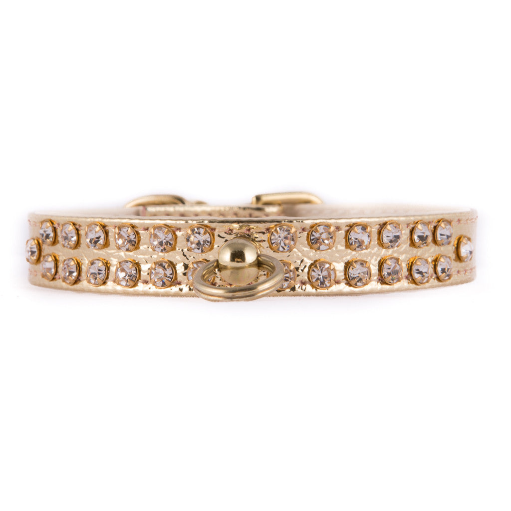 Gold Two Row Jeweled Collar