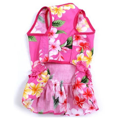 Hawaiian Ruffle Dress Pink
