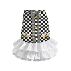 luxe coco ruffle dress dog dress designer dog clothes boutique dog apparel