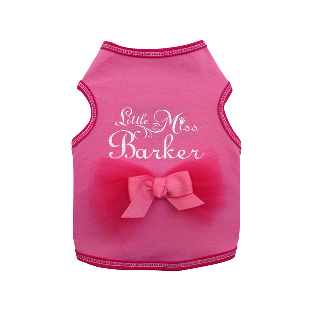 little miss barker dog top dog tee dog shirt designer dog clothes