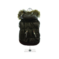 luxury quilted parka with detachable hood Dog Coats Dog Jackets Dog Tops designer dog apparel dog outerwear