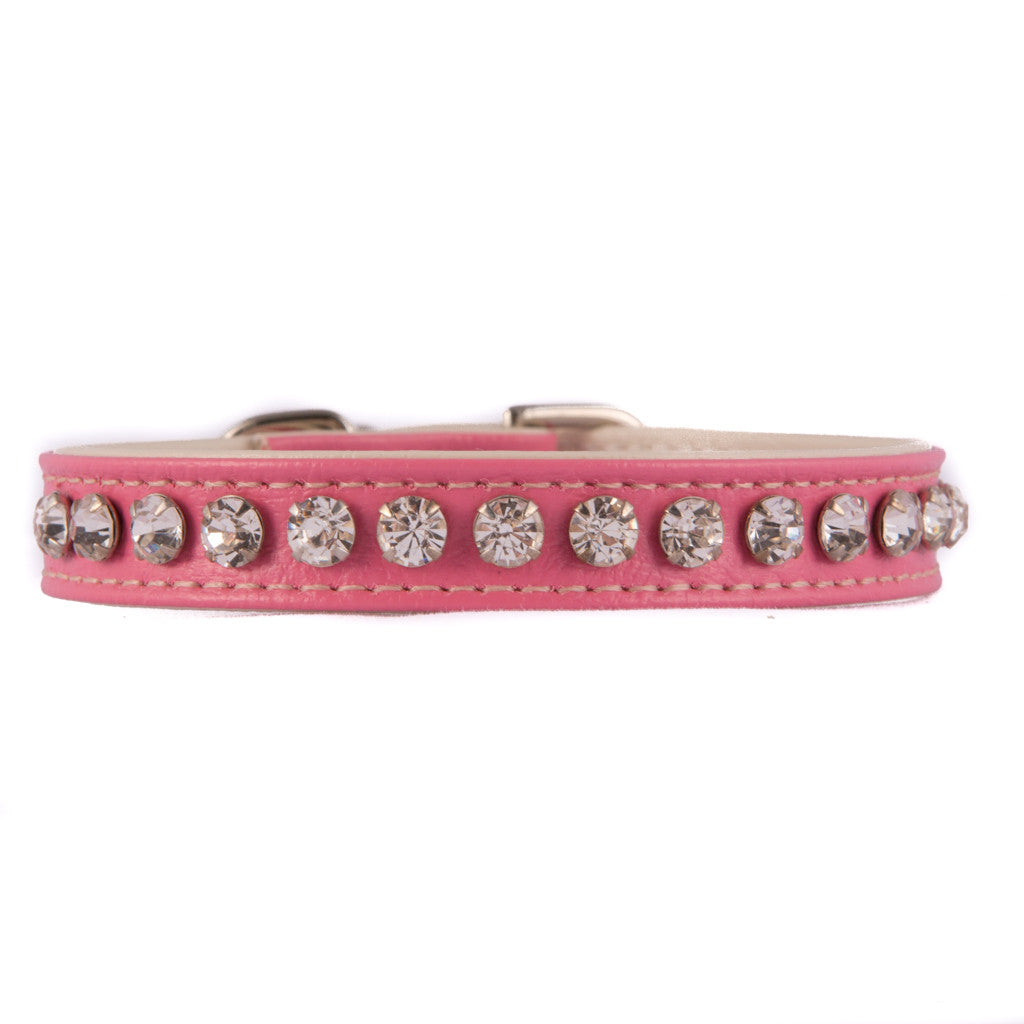 Pink One Row Jeweled Collar