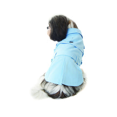 powder blue trench coat Dog Coats Dog Jackets Dog Tops designer dog apparel dog outerwear