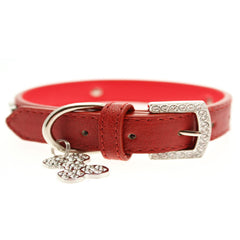 red leather diamante collar dog leash fancy dog leash dog collar fancy dog collar dog shirt collar designer dog collar boutique dog collar