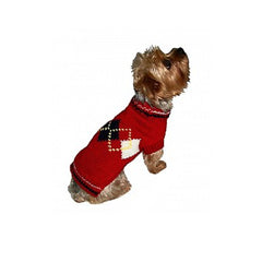 red argyle sweater dog sweater Dog Coats Dog Jackets Dog Tops designer dog apparel dog outerwear