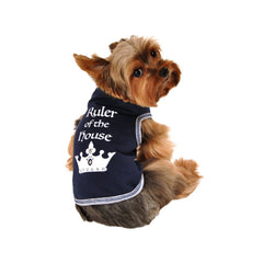 ruler of the house dog top dog tee dog shirt designer dog clothes