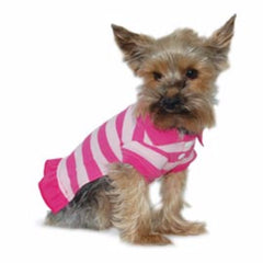 pink stripe polo dress dog dress designer dog clothes boutique dog apparel