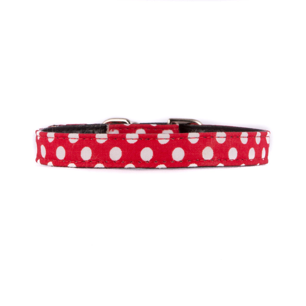 Red Polka Dots Fabric Collar