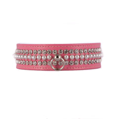 Pink Three Tiered Bling Collar