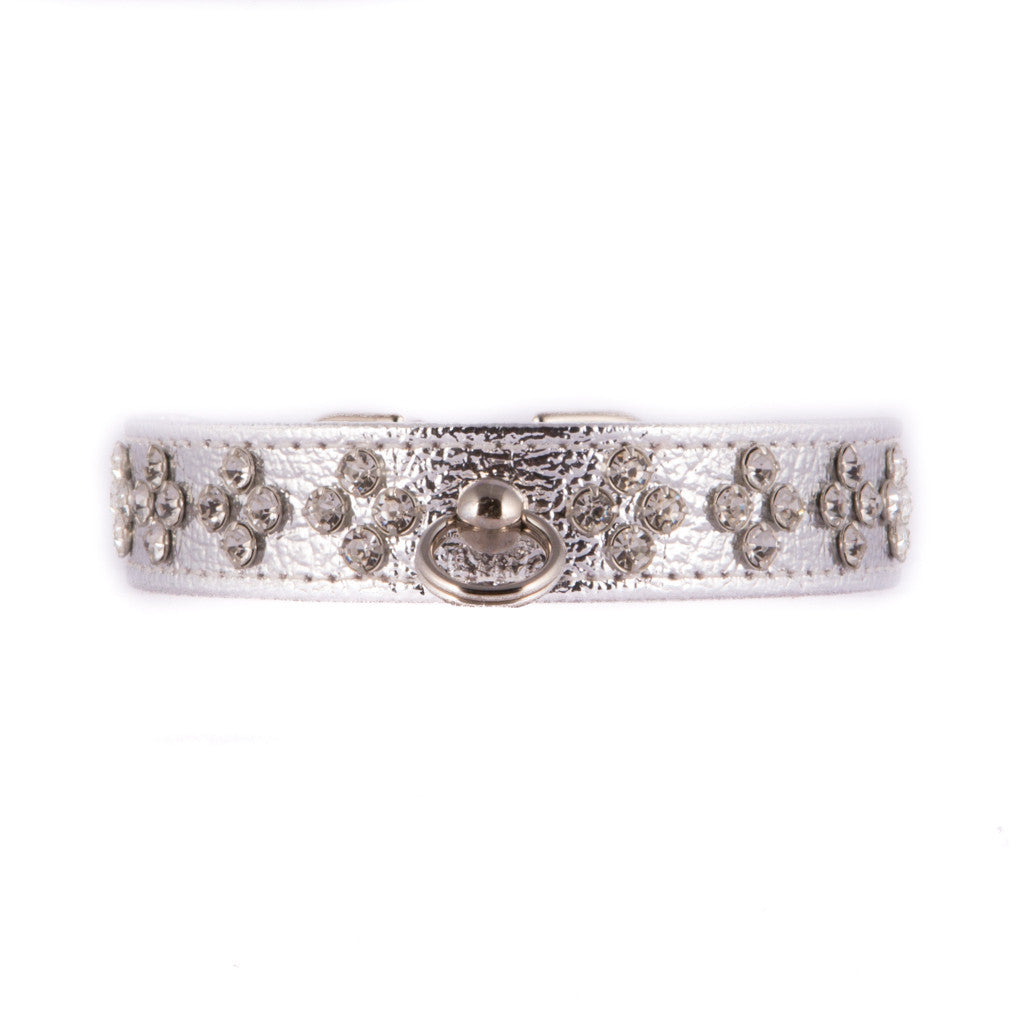 Jewel Shaped Crystal Silver Collar