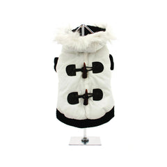 luxury white toggle quilted ski parka Dog Coats Dog Jackets Dog Tops designer dog apparel dog outerwear