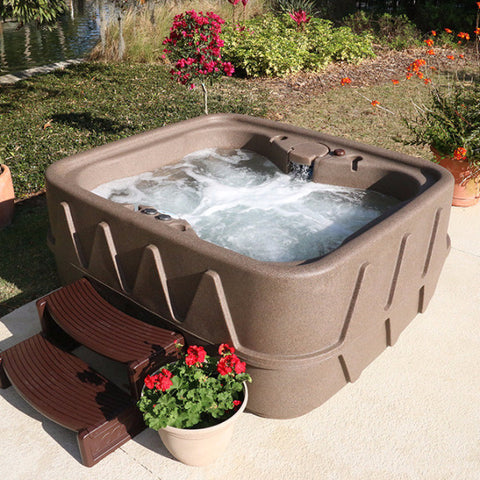 aquarest deluxe series ar400 resin plug nu0027 play spa 4 person hot tub