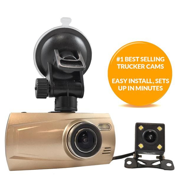 3rd Gen 1080P Dual DVR Dash Cam - 2 Camera System  Can use up to 256GBSD Card!  Optional GPS!!